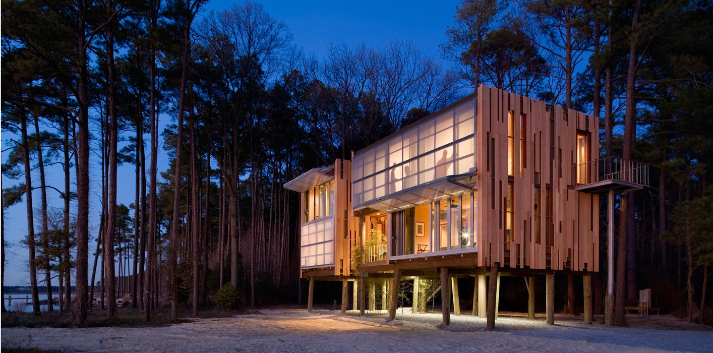 Loblolly House | Prefabricated Architecture Integrated with Nature