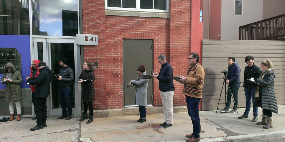 <p>Throughout design, we collect data and conduct experiments like this one outside of our shop.</p>