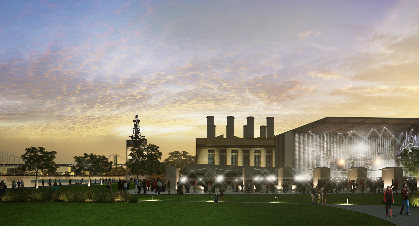 <p>The plan proposes an adaptive reuse of the historic Delaware Generating Station, a power plant next to Penn Treaty District, and envisions redeveloping it for a vibrant mix of cultural, museum, arhicval, office, studio, gallery, retails, and entertainment uses.</p>