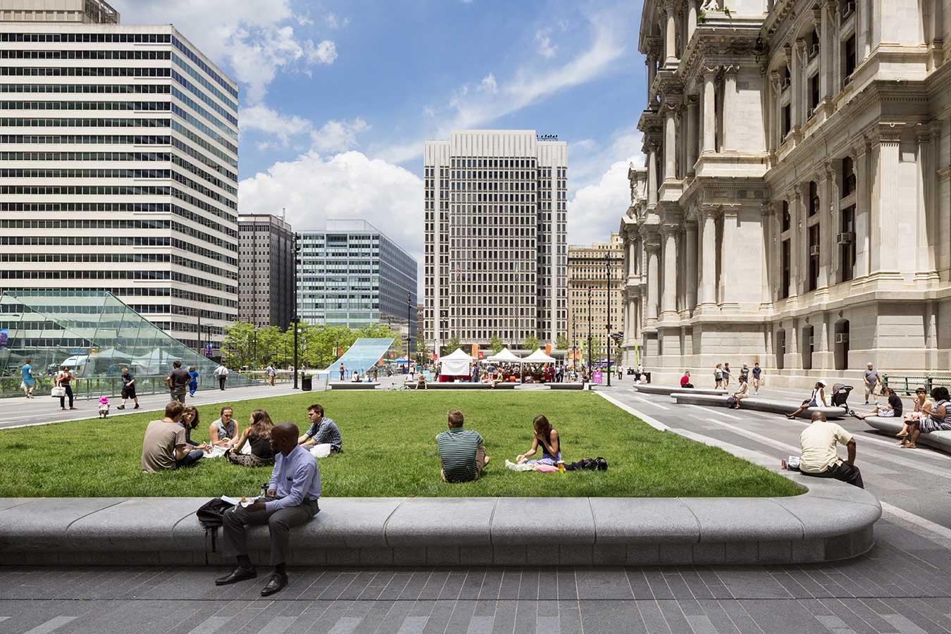 Dilworth park philadelphia city hall for Area landscape architects