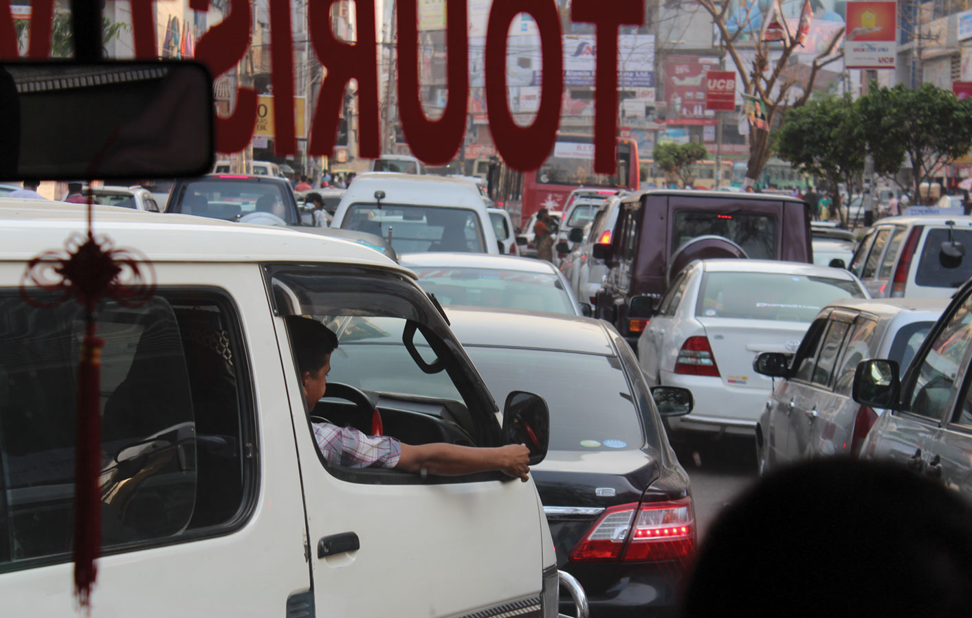 <p>Traffic jams are a way of life in the megacity of Dhaka.</p>