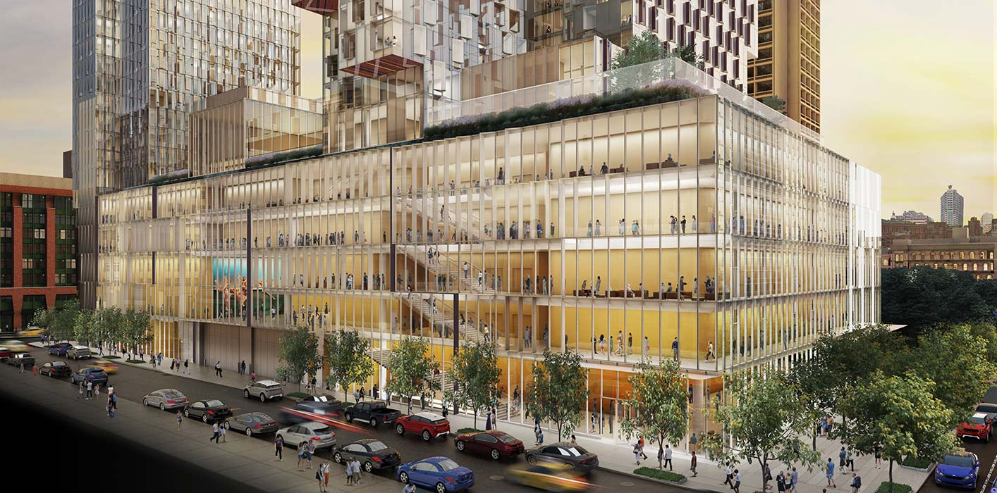 <p>Designed to encourage interactions between diverse student groups and academic disciplines, 181 Mercer's inclusive programming and open design bring together diverse groups of faculty, students, and community members in a building that represents the creativity and energy that defines both the University and New York City. <br><small>Illustration by studioAMD</small></p>