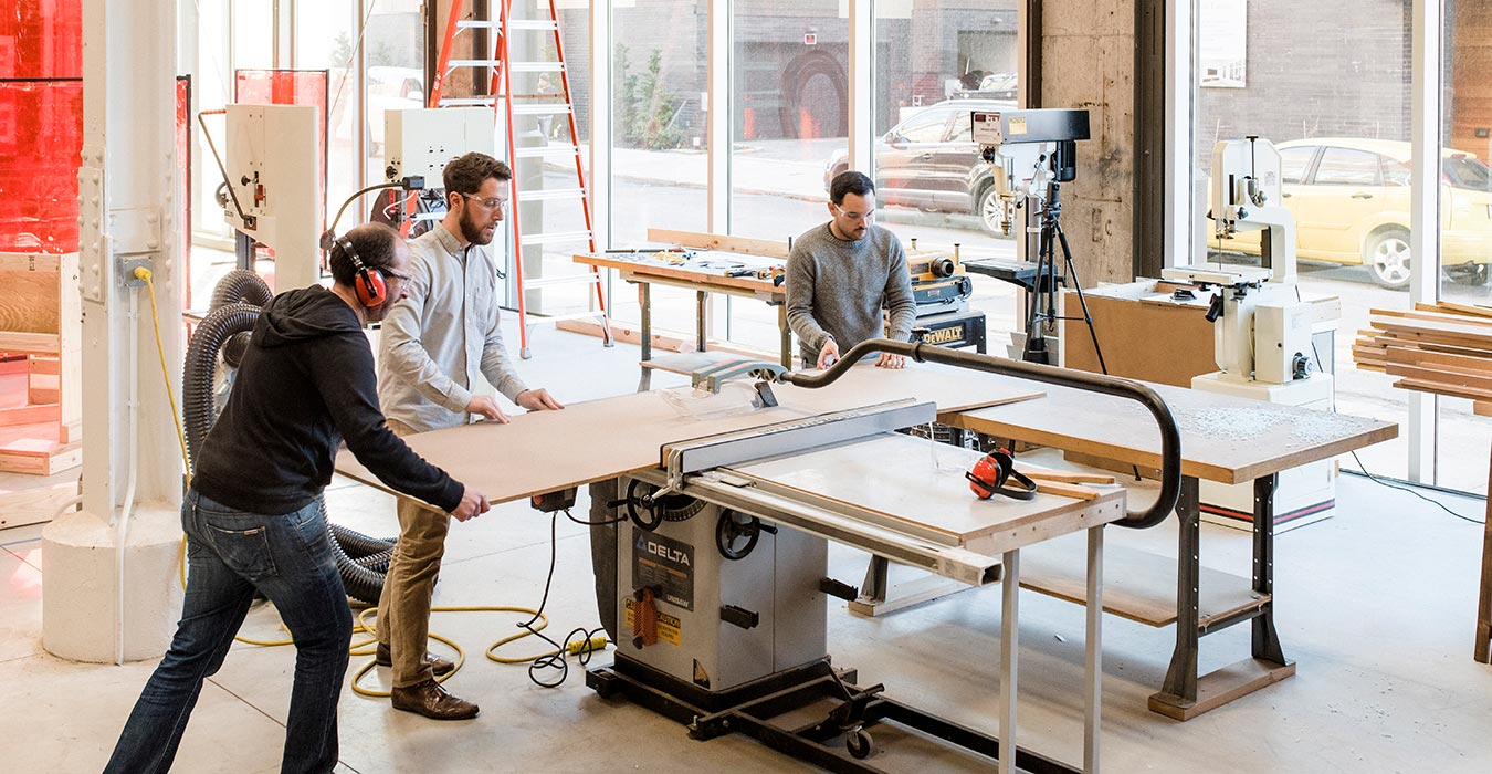 <p>Fabrication Director Peter Curry helps project teams investigate everything from novel materials and assemblies to environmental performance. &nbsp;<br /><small>&copy;Chris Leaman</small></p>