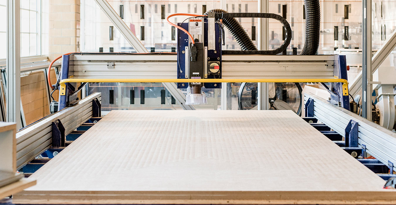 <p>The Computer Numerically Controlled (CNC) router helps us produce accurate and efficient models and iterations. &nbsp;<br /><small>&copy;Chris Leaman</small></p>