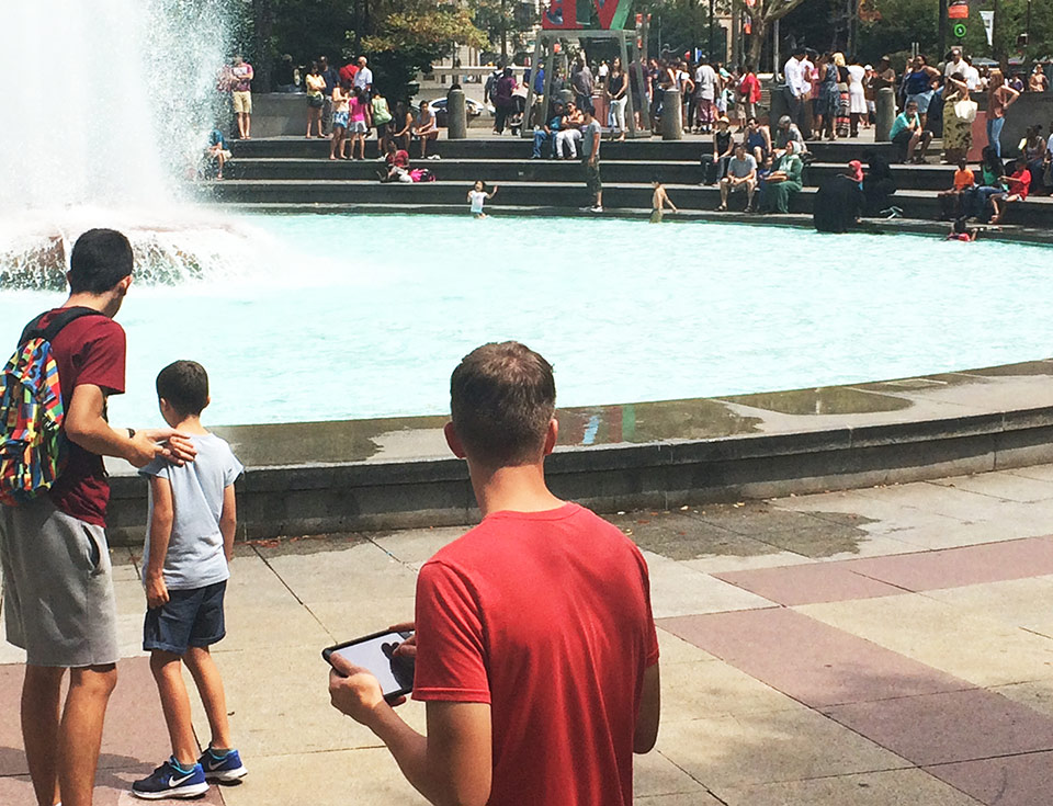 For Philadelphia's LOVE Park, we used a custom developed app to map visitor behavior over time and across different areas of the park. The results of this survey helped us create a pre-renovation standard.