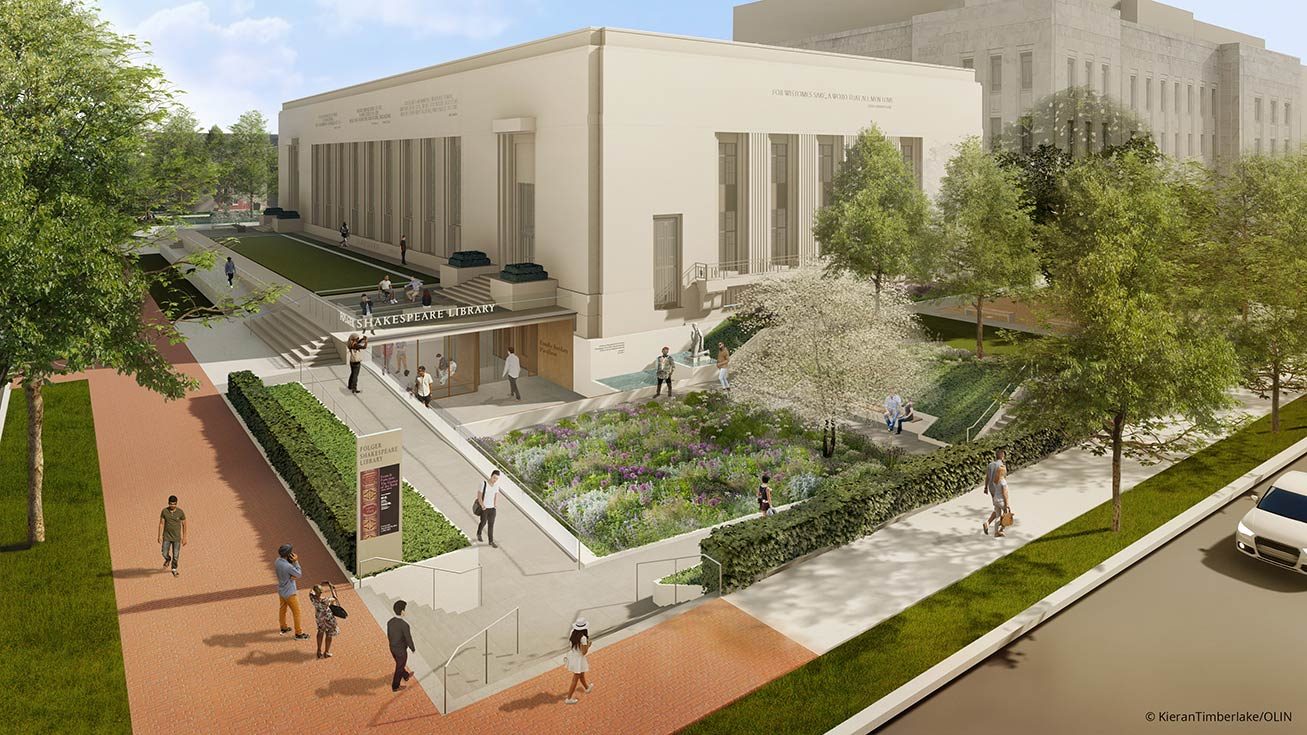 a419f1aae5f3 The Folger Shakespeare Library s underground addition will welcome visitors  with a new garden and universally accessible entrances.